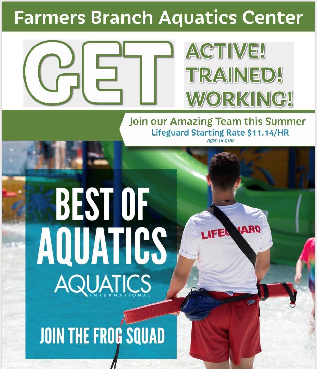 1289448aa09 Do you want to join the Award Winning Frog Squad  Click here to view our  upcoming Lifeguard Training Courses. Click here to apply for a ...