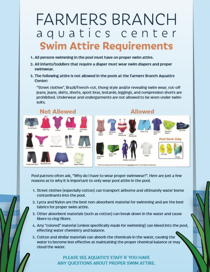 Swim Attire Flyer